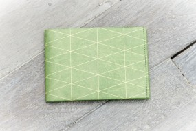 Paprcuts Portemonnaie Triangles Outlines Green (Big)