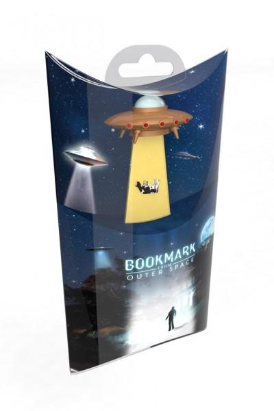 UFO Lesezeichen Golden Spaceship