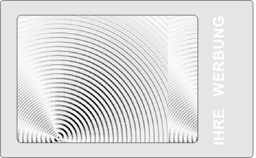 Werbelupe Visitenkarte Format HH19