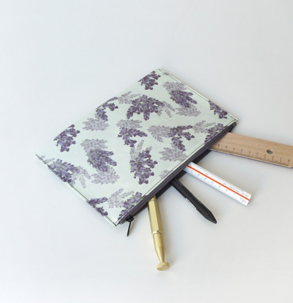 Hanji-Papiertasche Stiftetasche Kosmetiktasche – Lila/Lavendel 23x15cm