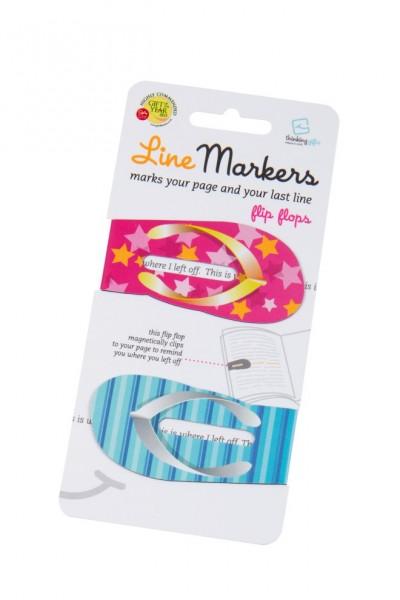 Line Markers FlipFlops - 2 Magnetische Lesezeichen