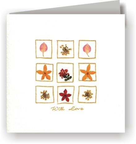 Grußkarten Blüten 6er-Set - 9 Blüten - With Love