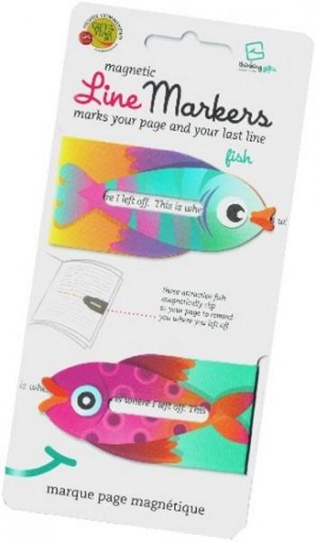 Line Markers Fish - 2 Magnetische Lesezeichen