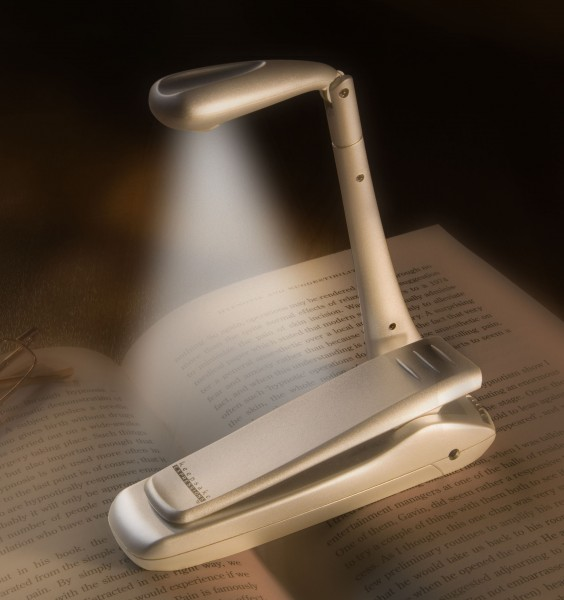 Clip-on Booklight | Silber | LED Leselampe