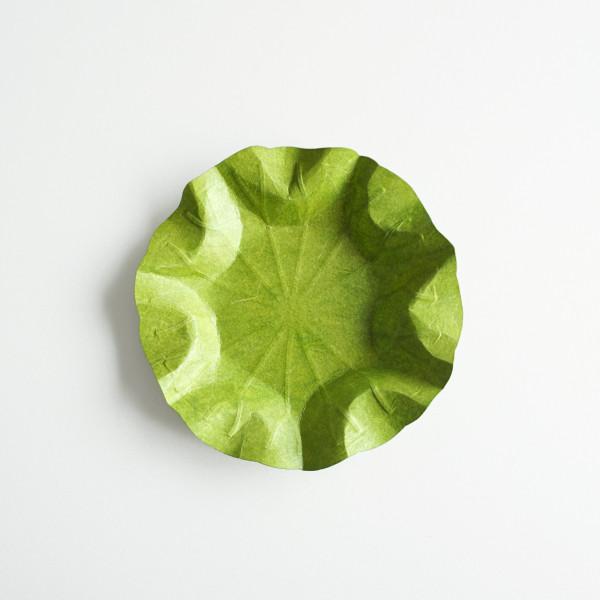 Flexible Hanji-Papierschale Lotusblatt (M) Grün 32x32cm