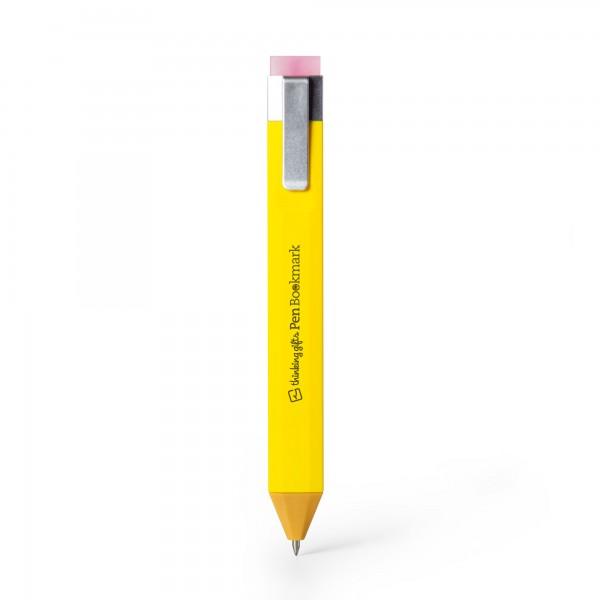 Pen Bookmark Gelb - Stift und Lesezeichen in einem