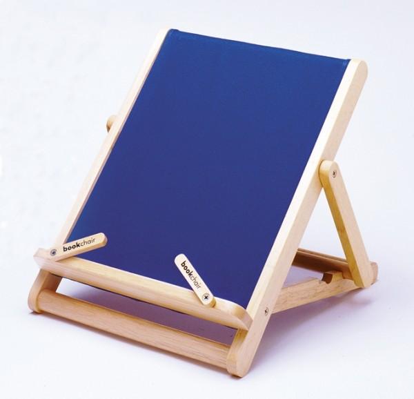 Bookchair Standard | blau | Buchständer aus Holz