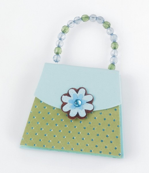 Handbag Notes - Blue & Green - Memopad