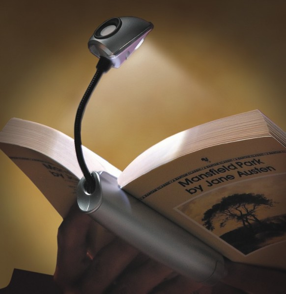 Stylus Booklight | Silber | LED Leselampe