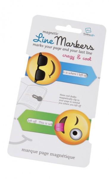 Line Markers Crazy&Cool - 2 Magnetische Lesezeichen