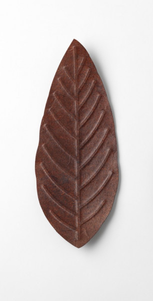 Flexible Hanji-Papierschale Blatt Braun 30x12cm