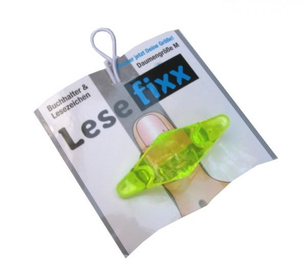 Lesefixx Größe M, Buchhalter und Lesezeichen, Farbe Gelb