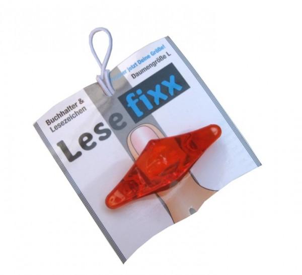 Lesefixx Größe L, Buchhalter und Lesezeichen, Farbe Orange