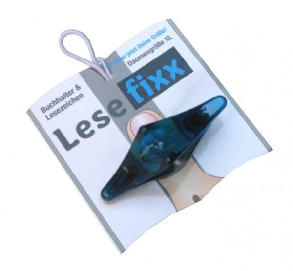 Lesefixx Größe XL, Buchhalter und Lesezeichen, Farbe Blau