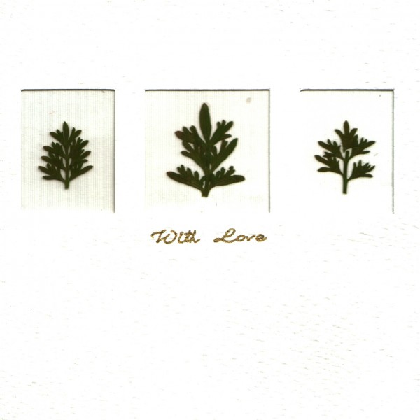 Grußkarten Blüten 6er-Set - 3 Fenster - With Love
