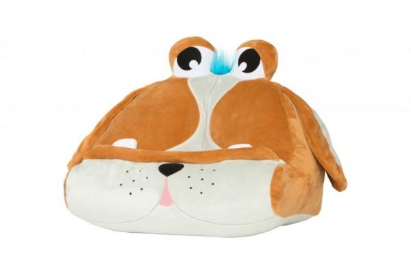 Bookmonster Hund - Lesekissen für Bücher & Tablets- Cuddly Reader