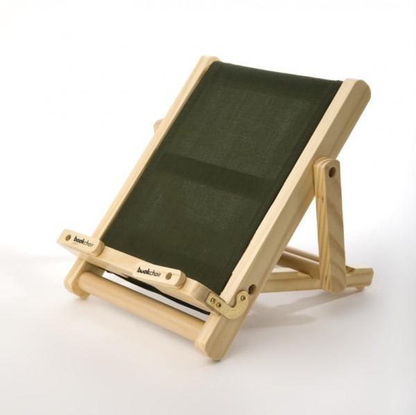 Bookchair Medium | grün | Buchständer aus Holz