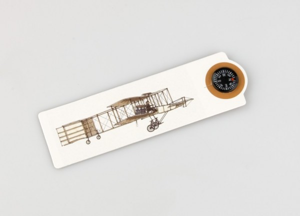 Compass Mark Flugzeug - Lesezeichen mit Kompass