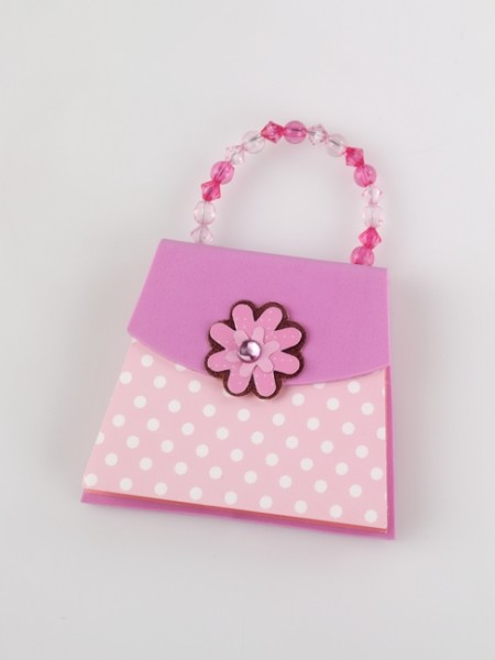 Handbag Notes - Pink Polka Dots - Memopad