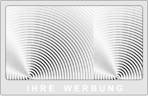 Werbelupe Visitenkarte Format HH14