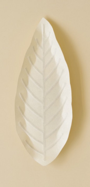 Flexible Hanji-Papierschale Blatt Weiß 30x12cm
