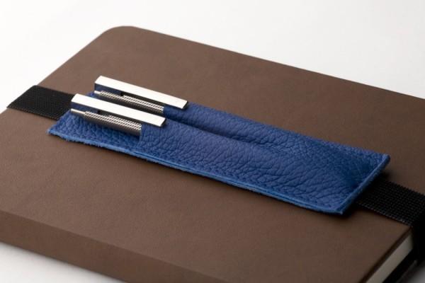 Walden | Blau | Stiftetui aus Echtleder