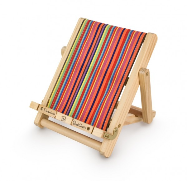 Bookchair Medium | Streifen | Buchständer aus Holz