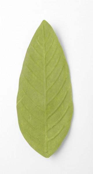 Flexible Hanji-Papierschale Blatt Grün 30x12cm