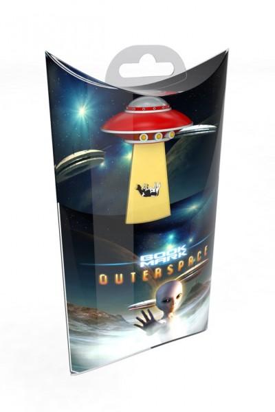 UFO Lesezeichen Red Spaceship