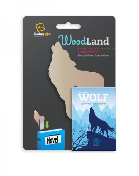 Woodland Lesezeichen Wolf