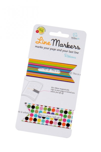 Line Markers Ribbons - 2 Magnetische Lesezeichen