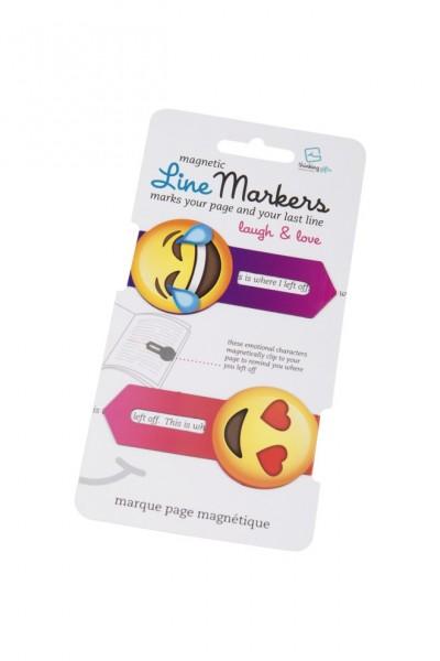 Line Markers Laugh&Love - 2 Magnetische Lesezeichen