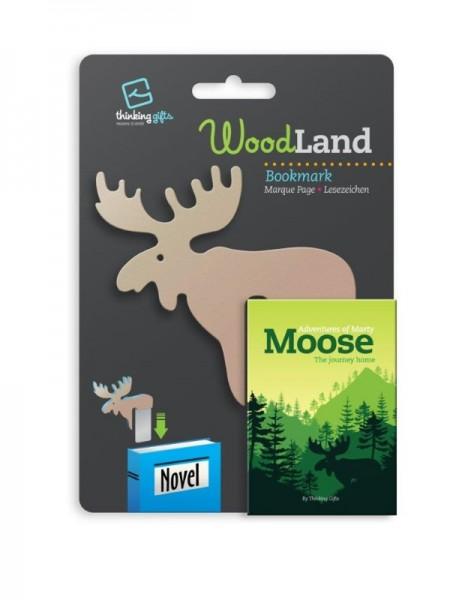 Woodland Lesezeichen Moose - Elch