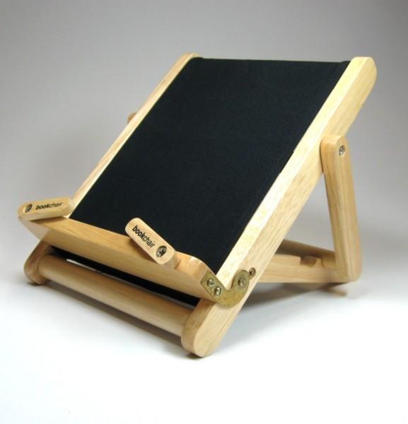 Bookchair Medium | schwarz | Buchständer aus Holz