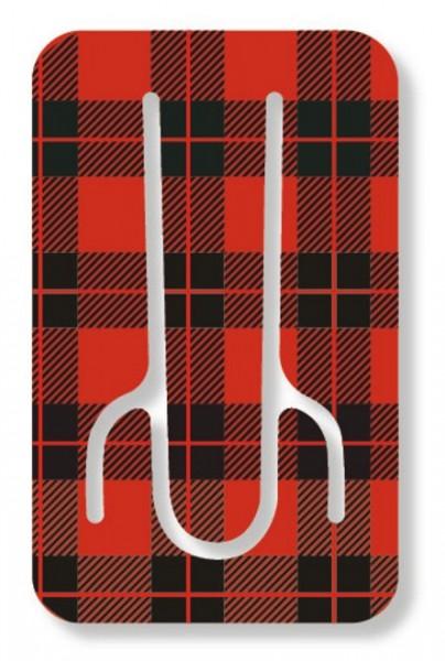 Flexistand Red Tartan - superflacher Aufsteller für Smartphones und Mini-Tablets