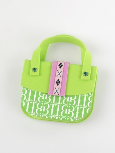 Handbag Notes - Green & Pink - Memopad