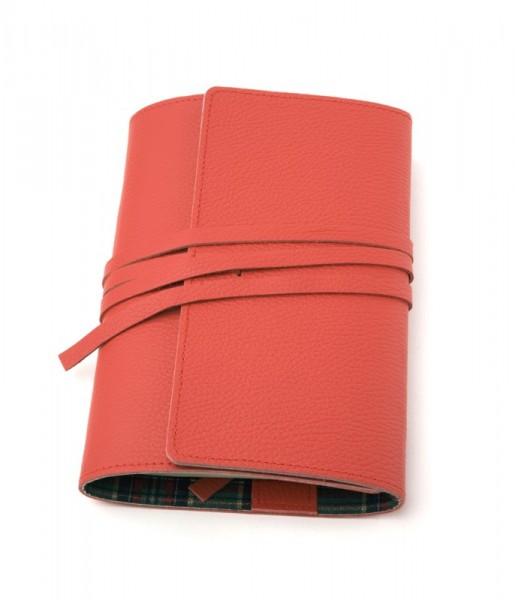 LITERAturtasche | Größe L | rot | Buchhülle aus echtem Leder