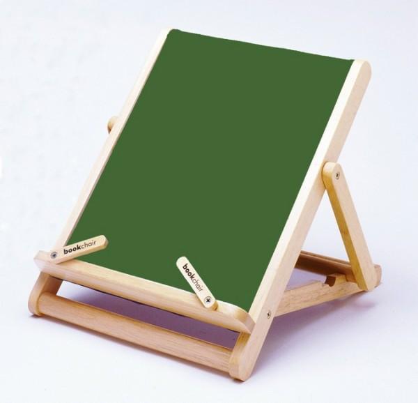 Bookchair Standard | grün | Buchständer aus Holz