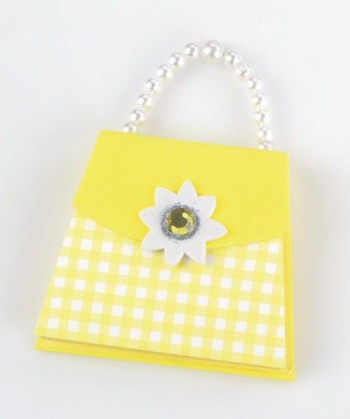 Handbag Notes - Yellow Gingham - Memopad