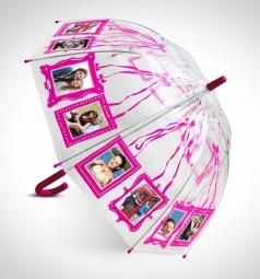 Clippy Foto Regenschirm - Kids Pink
