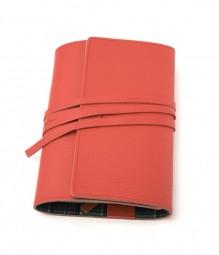 LITERAturtasche | Größe M | rot | Buchhülle aus echtem Leder